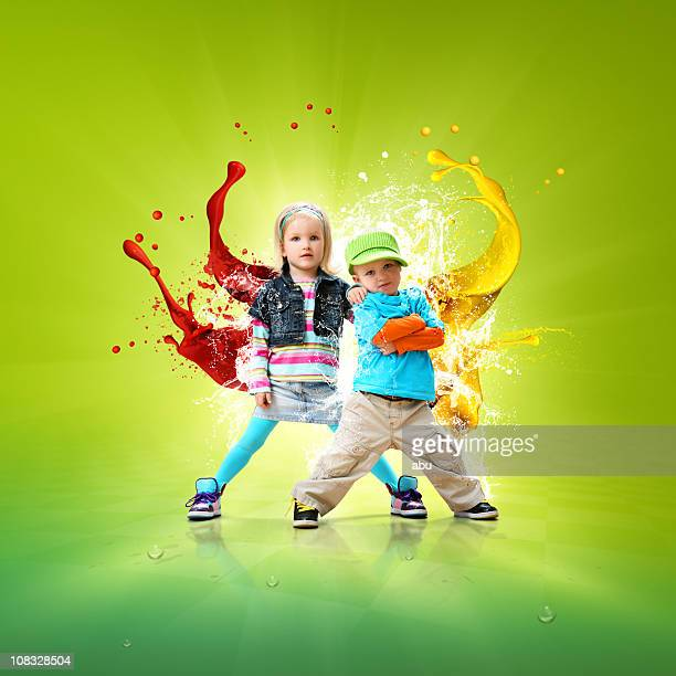 Bailarines de Hip-hop pequeño