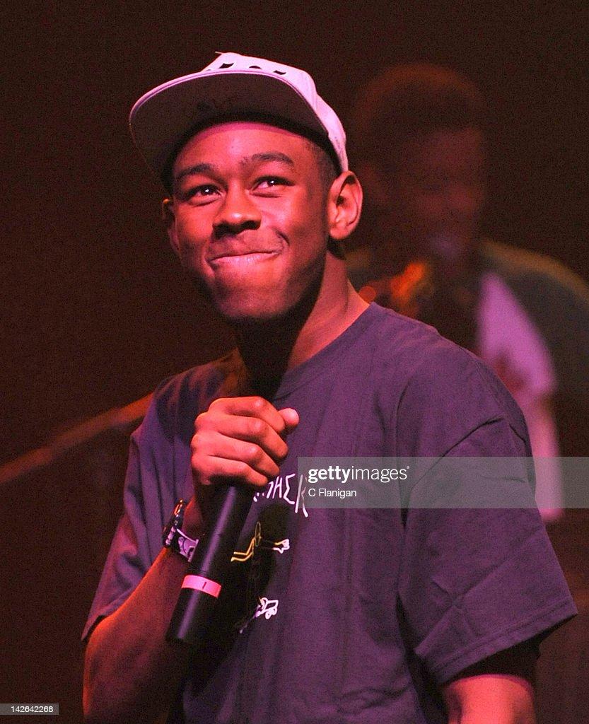 Vocalist Tyler the Creator (aka. Tyler Okonma) of Odd Future Wolf Gang ...
