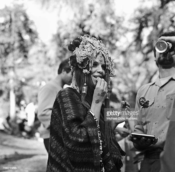 Hippies gather at Elysian Park for a 'LoveIn' a celebration of peace and love at Eysian Park in Los Angeles California on March 26 1967