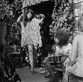 Hippies or 'freaks' as they prefer to be called enjoy the sunshine in Los Angeles California in summer 1967