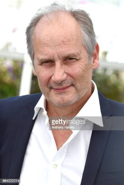 Hippolyte Girardot attends the 'Ismael's Ghosts ' photocall during the 70th annual Cannes Film Festival at Palais des Festivals on May 17 2017 in...