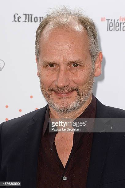 Hippolyte Girardot attends The Lumiere Le Cinema Invente exhibition preview on March 26 2015 in Paris France
