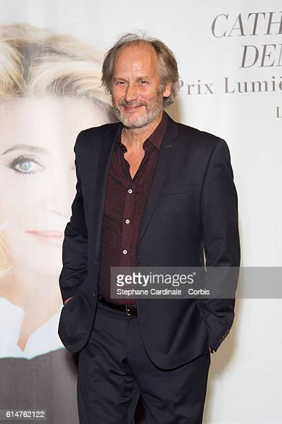 Hippolyte Girardot attends the 'Prix Lumiere 2016' Award Ceremony to Catherine Deneuve during the 8th Film Festival Lumiere on October 14 2016 in...