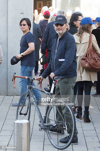 Hippolyte Girardot attends the shooting of French short blackandwhite silent documentary film 'La Sortie de l'Usine' directed by Park Chanwook at the...