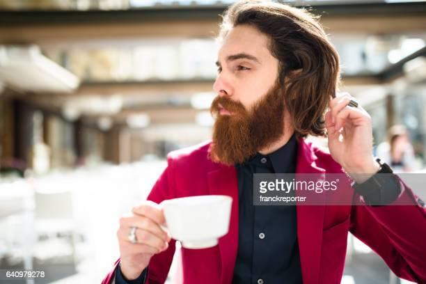 hipster doing the breakfast