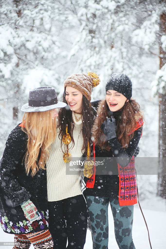 hipster fashion in the winter : Stock Photo