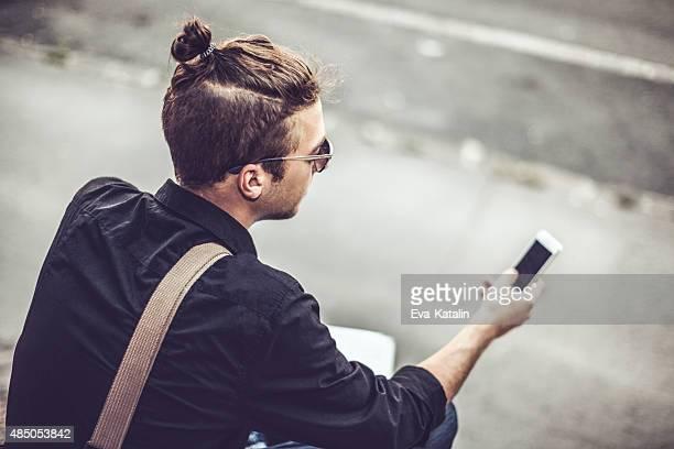 Hipster en la ciudad