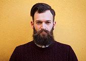 Hipster man with beard