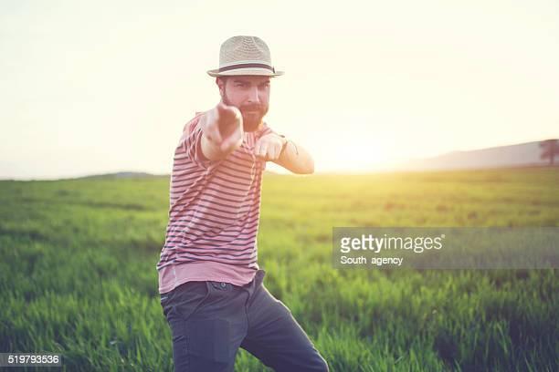 Hipster auf dich zeigen