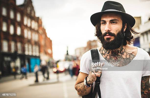 Hipster allein Reisende in Camden town London