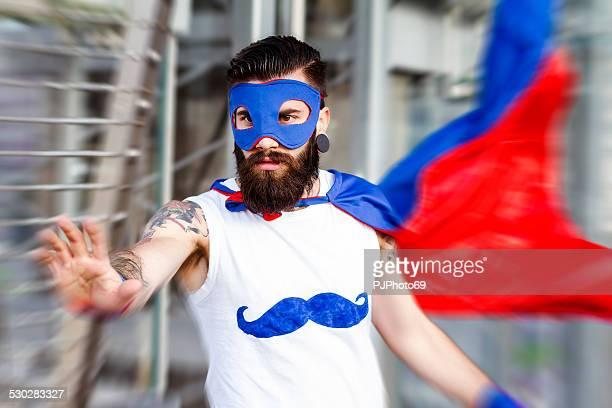 Hipster superhero