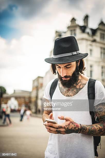 Hipster message texte à Londres