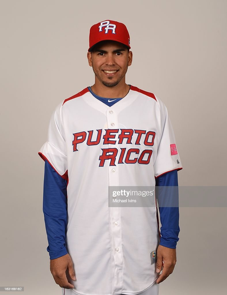 Hiram Burgos #54 of Team Puerto Rico poses for a headshot for the 2013 World Baseball Classic at the City of Palms Baseball Complex on Monday, March 4, 2013 in Fort Myers, Florida.