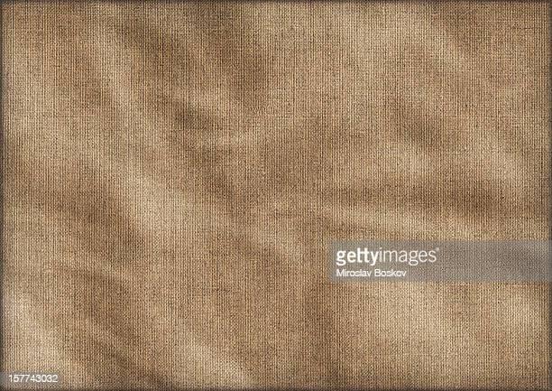 Hi-Res Antique Artist Linen Duck Canvas Crumpled Vignette Grunge Texture