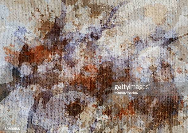 Hi-Res Artist's Primed Coarse Grain Jute Canvas Mottled Grunge Texture