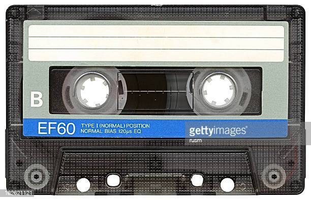 Hi-res Audio Cassette with clipping path on white background