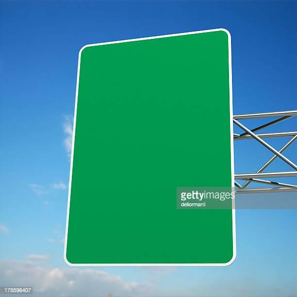 Hi -Res 空白の道路標識