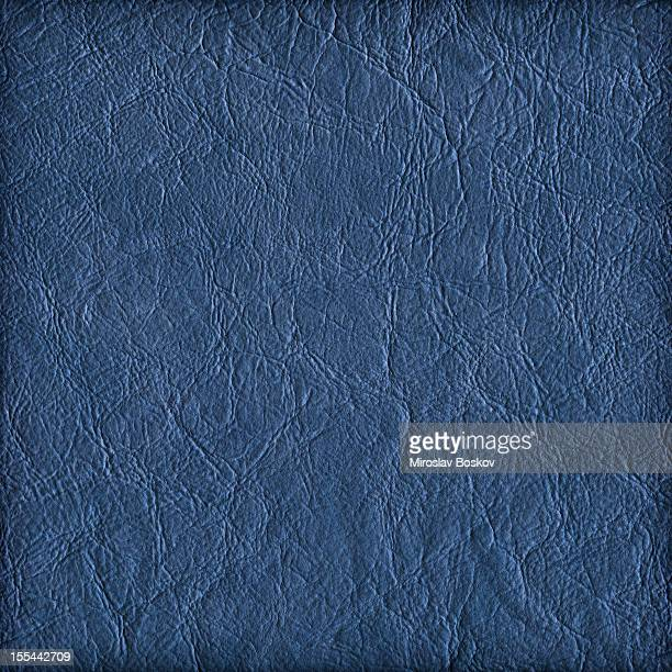 Hi-Res Marine Blue Eco Leather Crumpled Vignette Grunge Texture