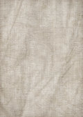 Hi-Res Old Artist's Single-primed Linen Canvas Wrinkled Mottled Grunge Texture