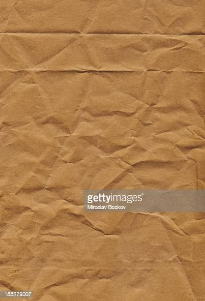 Hi-Res Old Recycle Brown Kraft Paper Bag Crumpled Grunge Texture