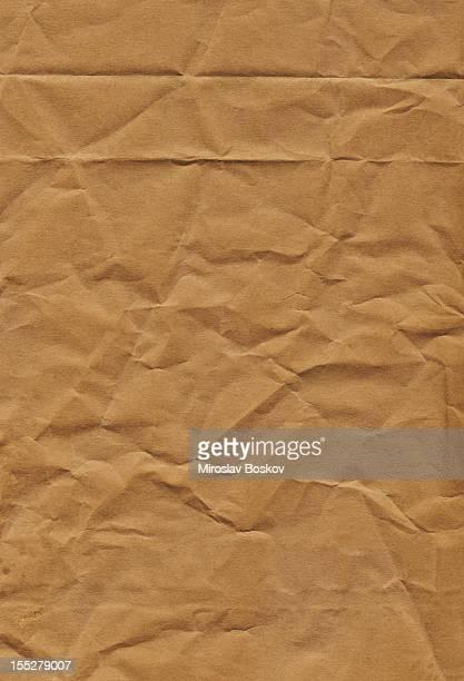 Hi-Res alten Recycling Brown Kraft Papiertüte Faltig Grunge-Textur