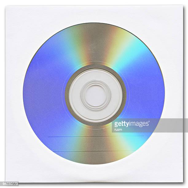 Hi-res optical disk in envelope isolated on white background