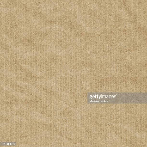 Hi-Res Recycled Striped Brown Kraft Wrapping Paper Crumpled Grunge Texture