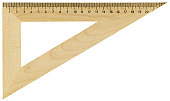 Hi-res wooden ruler with path