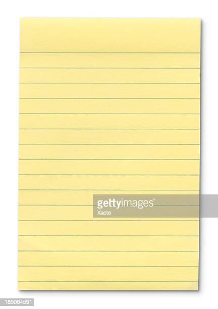 Hi -res 黄色ノートパッドの外形コースがあります。