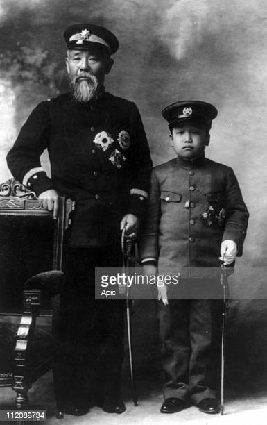 Hirobumi Ito Japanese prime minister with Crown Prince of Korea Euimin 1907
