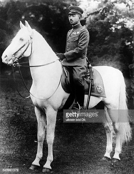 Hirohito *Emperor of JapanGovernment 19261989on his favourite horse 'White snow' 1936
