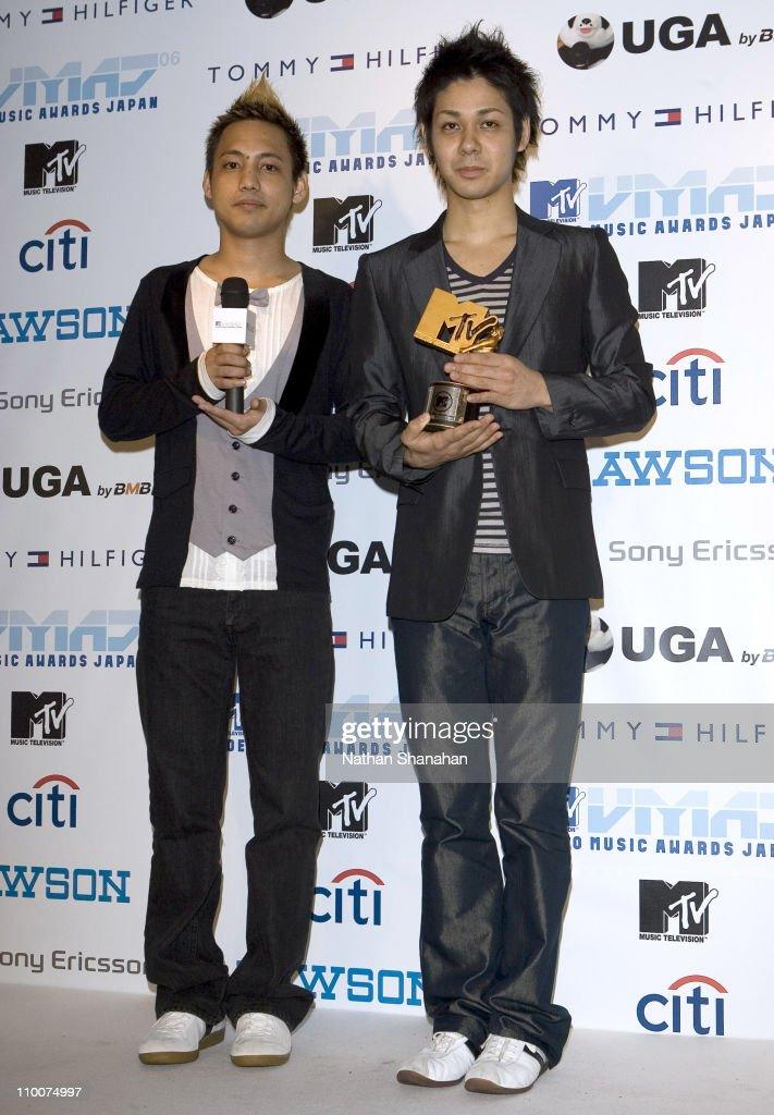 Hiroki and Naoto of Orange Range during MTV Video Music Awards Japan 2006 - Press Room at Yoyogi National Stadium in Tokyo, Japan.