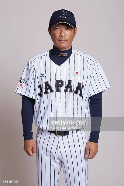 Hiroki Kokubo of Samurai Japan poses for photographs during the Samurai Japan Portrait Session on July 17 2014 in Tokyo Japan