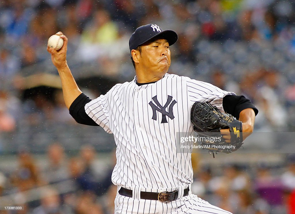 <a gi-track='captionPersonalityLinkClicked' href=/galleries/search?phrase=Hiroki+Kuroda&family=editorial&specificpeople=5498664 ng-click='$event.stopPropagation()'>Hiroki Kuroda</a> #18 of the New York Yankees pitches against the Minnesota Twins at Yankee Stadium on July 12, 2013 in the Bronx borough of New York City.