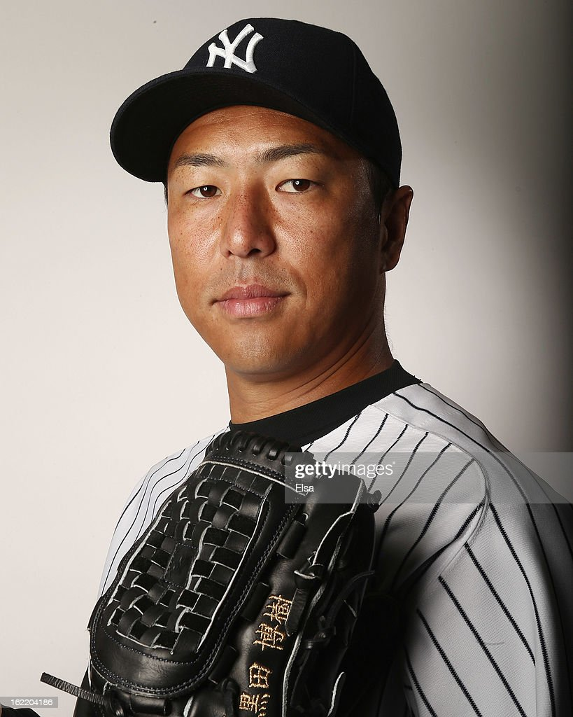 <a gi-track='captionPersonalityLinkClicked' href=/galleries/search?phrase=Hiroki+Kuroda&family=editorial&specificpeople=5498664 ng-click='$event.stopPropagation()'>Hiroki Kuroda</a> #18 of the New York Yankees poses for a portrait on February 20, 2013 at George Steinbrenner Stadium in Tampa, Florida.