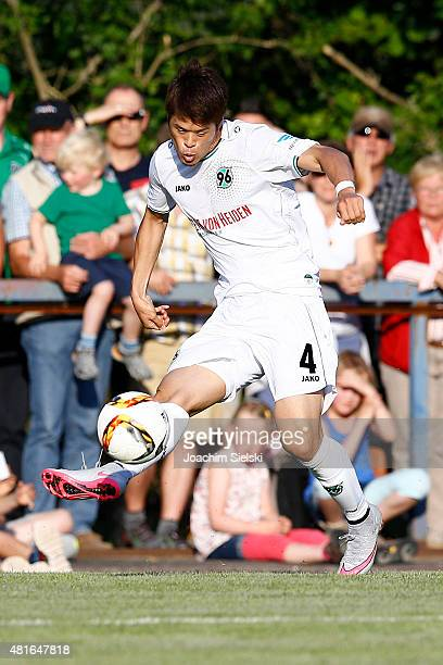 Hiroki Sakai of Hannover during the preseason friendly match between Hannover 96 and RCD Mallorca at WahrenDorff stadium on July 21 2015 in Sehnde...