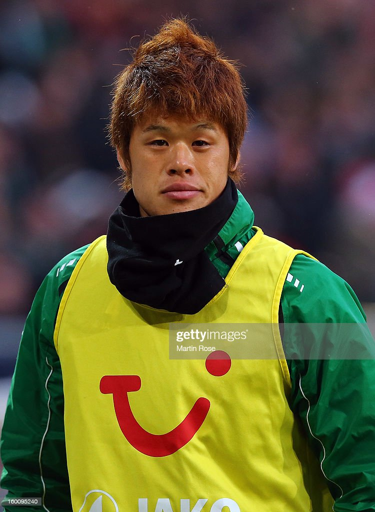 Hiroki Sakai of Hannover looks on before the Bundesliga match between Hannover 96 and VfL Wolfsburg at AWD Arena on January 26, 2013 in Hannover, Germany.