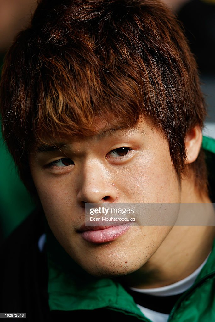 <a gi-track='captionPersonalityLinkClicked' href=/galleries/search?phrase=Hiroki+Sakai&family=editorial&specificpeople=7728461 ng-click='$event.stopPropagation()'>Hiroki Sakai</a> of Hannover sits on the bench prior to the Bundesliga match between Borussia Dortmund and Hannover 96 at Signal Iduna Park on March 2, 2013 in Dortmund, Germany.