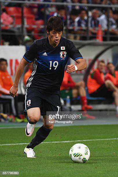 Hiroki Sakai of Japan in action during the international friendly match between Japan and Bulgaria at the Toyota Stadium on June 3 2016 in Toyota...