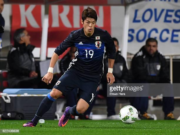 Hiroki Sakai of Japan in action during the international friendly match between Japan and Oman at Kashima Soccer Stadium on November 11 2016 in...