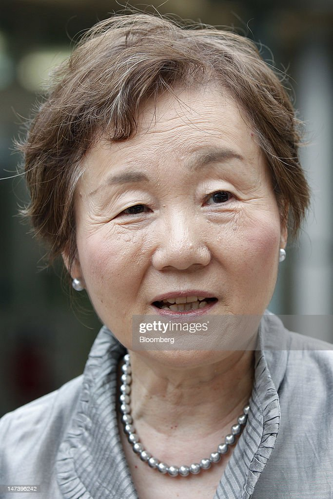 Hiroko Akiyama, professor at the Institute of Gerontology at the University of Tokyo, speaks during a media tour of the aged community in Kashiwa City, Chiba Prefecture, Japan, on Thursday, June 28, 2012. Japan ages faster than any other developed society, with 23 percent of the population 65 or older, according to government figures. Photographer: Kiyoshi Ota/Bloomberg via Getty Images