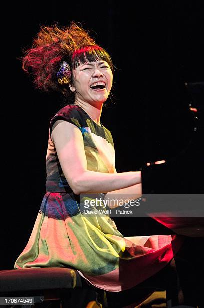 Hiromi from Hiromi the Trio Project performs at Maison De La Mutualite on June 19 2013 in Paris France