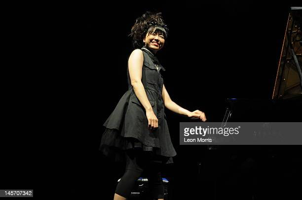 Hiromi performs on stage during the Melbourne International Jazz Festival at the Melbourne Recital Centre/Bennetts Lane on June 4 2012 in Melbourne...