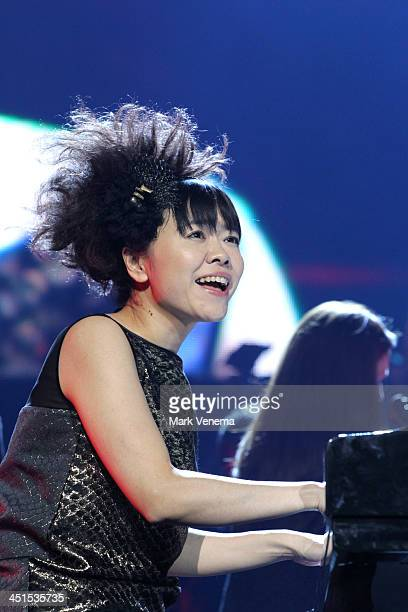 Hiromi Uehara performs on stage at Night Of The Proms at Ahoy on November 22 2013 in Rotterdam Netherlands