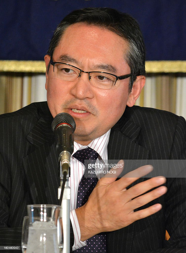 Hiromichi Shirakawa, chief economist of Credit Suisse Securities Japan, speaks during a press conference at the Foreign Correspondents' Club of Japan in Tokyo on September 30, 2013. Hiromichi Shirakawa and Masaaki Kanno, Chief Economist of JP Morgan Securities Japan, held the conference to discuss the implications of the tax-hike plan.