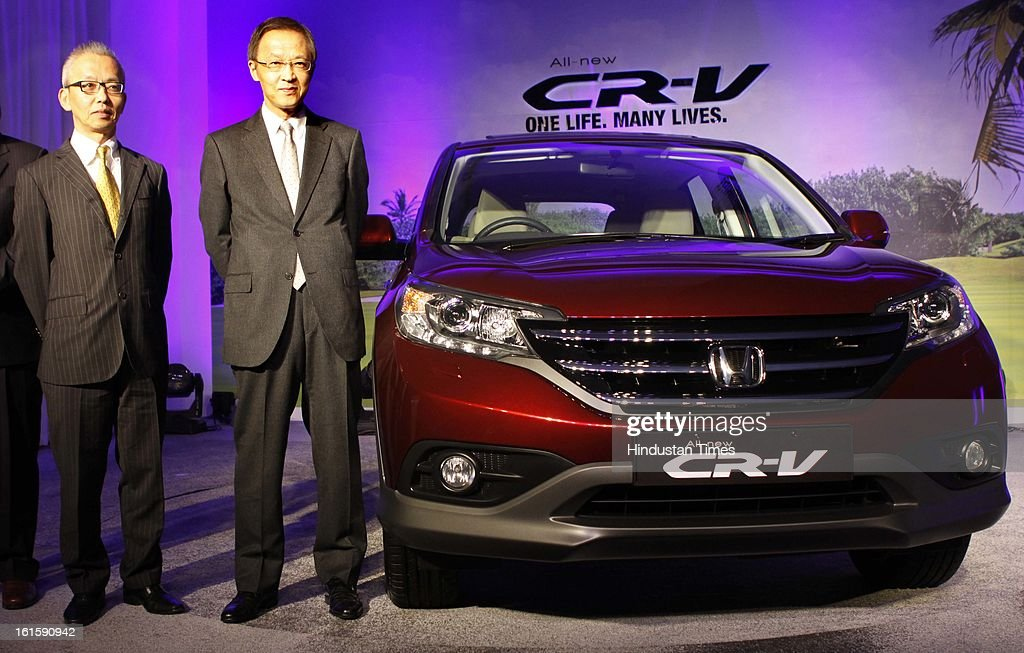 Hironori Kanayama CEO and President Honda cars Launched all new version of its sports utility vehicle CR-V on February 12, 2013 in New Delhi, India.