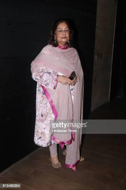 Hiroo Johar during a special screening of movie Jagga Jasoos at Lightbox Santracruze on July 13 2017 in Mumbai India