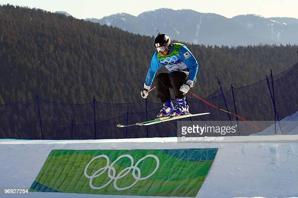 Hiroomi Takizawa of Japan competes in a men's ski cross qualification race on day ten of the Vancouver 2010 Winter Olympics at Cypress Mountain...