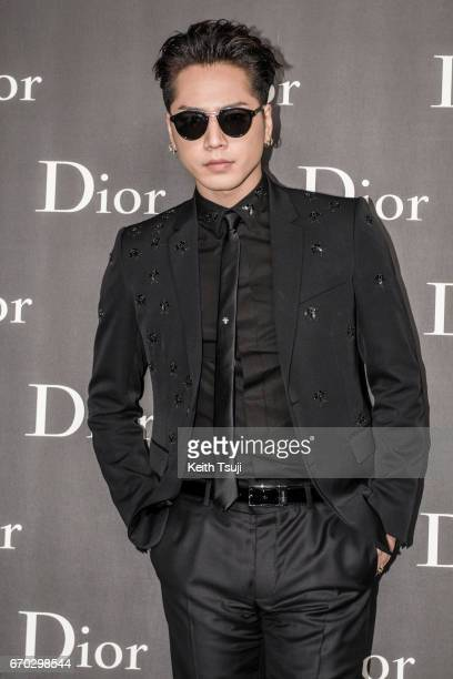 Hiroomi Tosaka attends the Dior Homme 2017 Fall Presentation at Differ Ariake on April 19 2017 in Tokyo Japan
