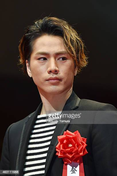 Hiroomi Tosaka attends the Mainichi Film Awards at Muza Kawasaki on February 10 2015 in Kawasaki Japan